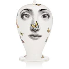 Fornasetti Farfalle Vase (3,300 SAR) ❤ liked on Polyvore featuring home, home decor, vases, no color, butterfly home decor, fornasetti, handmade ceramic vase, handmade home decor and round vase