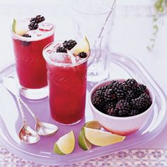 Blackberry Limeade | MyRecipes.com