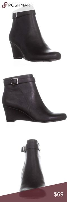 2374d3455a5b Naturalizer Hurley Wedge Dress Ankle Bootie Brand  naturalizer Heel  2.50  inches (6.35 CM) Material  Synthetic Color  Black Toe-Shape  Round Toe The  boot ...