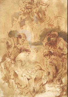 41 - Эрмитаж. Шедевры - 5 - Terra Incognita. Сайт Рэдрика  Кастильоне, Джованни Бенедетто - Поклонение пастухов