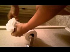 Toilet paper rose - YouTube
