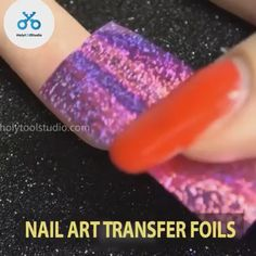 With Nail Art Transfer Foils you can create amazing nails A variety of cool colors and graphics will soon be done on your nails Easy to apply and remove Only 9 98 set of 12 Get yours now Hot Pink Nails, Pink Nail Art, Foil Nail Art, Foil Nails, Silver Glitter Nails, Glitter Nail Art, Winter Nails, Summer Nails, French Tip Nail Art