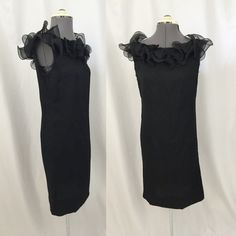 Hey, I found this really awesome Etsy listing at https://www.etsy.com/ru/listing/219512596/1960s-black-ruffle-chiffon-dress-size