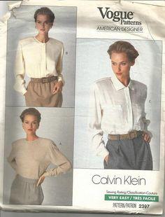 1980s Calvin Klein Vogue American Designer Ladies by kinseysue