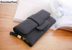 [Visit to Buy] High Capacity Fashion Casual Hasp Women Wallets Matte Leather Long Wallet Female Big Clutch Coin Purse Phone Money Bag Handbag #Advertisement