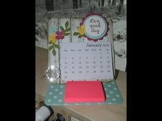 Mini Calendar Easel Card Stampin' UP! - YouTube