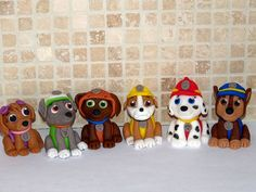 6+Paw+Patrol+inspired+Cupcake/Cake+Toppers+by+ArtCreationsbyLK,+$11.00
