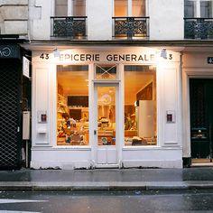 L'épicerie Générale, Made in France, beau, bon et bio. Interview par French Mômes Shop Around, Shop Fronts, Made In France, Cafe Interior, Around The Corner, Store Design, Signage, French, Boutique