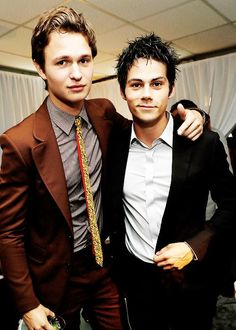 Dylan O'Brien with Ansel Elgort at the 2014 Young Hollywood Awards