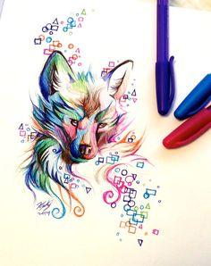 Fox Pen Design by Lucky978.deviantart.com on @DeviantArt