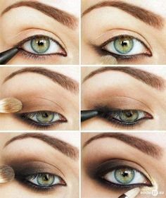 Brown smoky eye with gold accent, it's a little dark...But pretty!