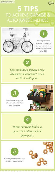 Garage organization tips from #zulily! #organization #home #garage