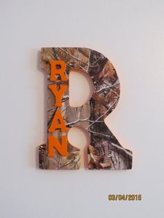 A personal favorite from my Etsy shop https://www.etsy.com/listing/223483689/camo-custom-wall-letter-camo-letter-boys