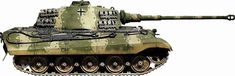 Click this image to show the full-size version. Tiger Ii, Military Tank, Military Armor, Camouflage Colors, Camouflage Patterns, Best Armor, War Thunder, Tiger Tank, Model Tanks