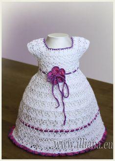Patrón de ganchillo vestido Nº 55 por Illiana en Etsy