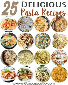 25 Delicious Pasta Recipes | Collected by The Girl Creative One Pan Recipes, Main Dishes, Baked Pasta