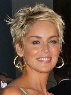 sharon stone hairstyles short hair - Google Search