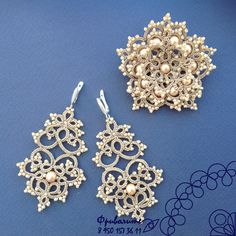 Tatting Necklace, Tatting Jewelry, Lace Jewelry, Wedding Jewelry, Diy Jewelry, Jewelery, Handmade Jewelry, Needle Tatting, Tatting Lace