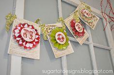 #free #printable #christmas banner from SugarTot Designs