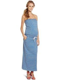 Summer Maternity Fashion: Jules & Jim Women's Long Comfortable Tube Dress