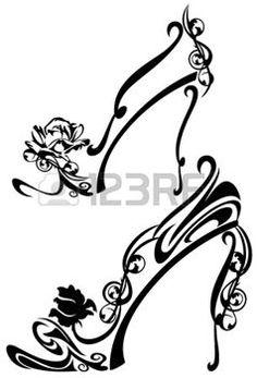 silhouette chaussure chaussures noires dessin pinterest pochoir silhouette. Black Bedroom Furniture Sets. Home Design Ideas