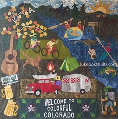 Kelly Gallagher - Abbott's Colorado Quilt. Inspired by the Row by Row project.