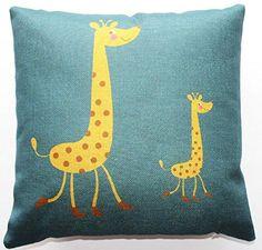 Throw Pillow Cases, Throw Pillows, Animal Design, Cotton Linen, Deer, Kids Rugs, Amazon, Animals, Home Decor