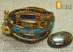 Yoga Jewelry Bracelet Wrap with Crystals and от OhlalaJewelry