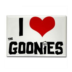 I Love The Goonies Rectangle Magnet on CafePress.com