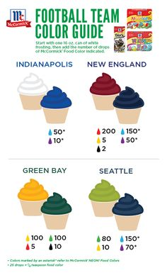Desserts with custom colors are a festive way to cheer on your team during this weekend's football games!
