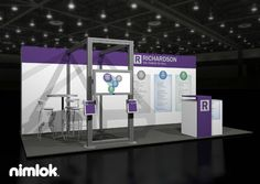 Client Name: Richardson  Design #: 53564R1  Whatever your budget or business needs, let Nimlok take you through the process to help identify a trade show exhibit solution that is perfectly matched to meet and exceed your face-to-face marketing goals.