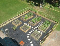 Nice Garden Layout. // would be good with large trellis against fence for trellis to cover shed
