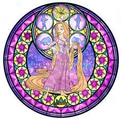 Rapunzel - Kingdom Hearts Stain Glass (You'd have to play the game to understand how it's from Kingdom Hearts :p ) Disney Pixar, Disney Rapunzel, Disney Magic, Walt Disney, Princess Rapunzel, Disney And Dreamworks, Disney Cartoons, Disney Art, Disney Princesses