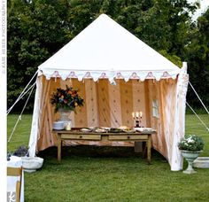 Tent for food