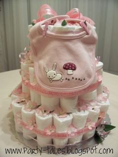 Party-Tales: ~ Baby Shower ~ Diaper Cake Tutorial Part 2
