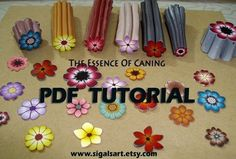 Polymer Clay Tutorial Backgroundless Blume Cane
