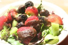 Berry and Kiwi salad with Sweet Balsamic Dressing