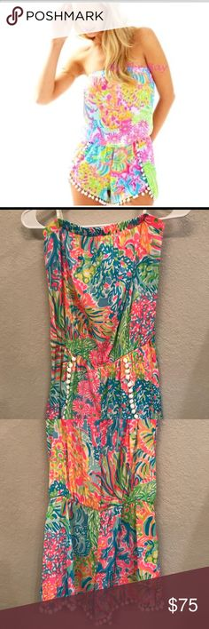 5685857009f Lilly Pulitzer Daisy Pom Romper Lilly Pulitzer Daisy Pom Romper worn once  size small Lilly Pulitzer Other
