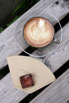 Servieridee mit Kaffeefilter