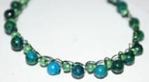19 Free Crochet Jewelry Patterns You Should Check Out: Jasper Stone Bead Necklace Pattern