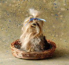 custom needle felted dog