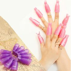 10pcs Nail Art Soak Off Clip Cap Set,Plastic UV Gel Nail Degreaser Polish Smart Remover Wrap Manicure Tools Kit
