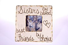 Sisters Picture Frame by CreativeCraftsbyCC on Etsy