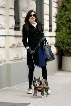 Celebs and their pets in 2016:    Famke Janssen walked her dog, Licorice, in New York City on March 5. - Christopher Peterson/Splash News