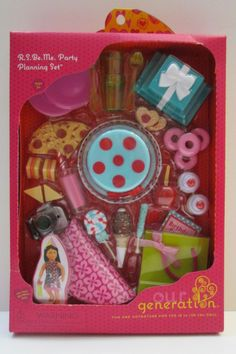 Our Generation R S Be Me Party Planning Accessory Set NIB for 18 inch Doll