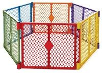 Toddleroo by North States Superyard Colorplay 6 Panel Play Yard: Safe play area anywhere. Folds up with carrying strap for easy travel. Pack N Play, Baby Safety, Child Safety, Fisher Price, Portable Play Yard, Portable Fence, Make It Easy, Minnie Mouse, Baby Playpen