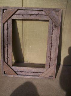Rustic barnwood picture frame. $30.00, via Etsy.