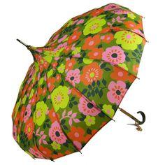Vintage Spring Colored Pagoda Umbrella