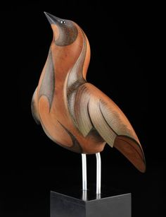 Swainson's Thrush by Rex Homan, Māori artist (KRX111208)