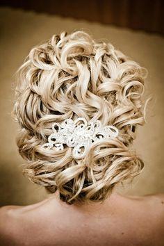 Sleek Wedding HairStyles ♥ Wedding Wavy Updo Hairstyle